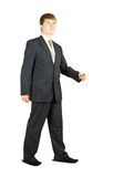 Businessman is walking Royalty Free Stock Photo