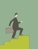 Businessman walking royalty free illustration