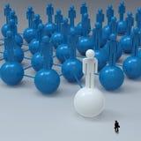 Businessman Walking 3d White Human Social Network Royalty Free Stock Photo