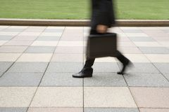 Businessman walking. Royalty Free Stock Images