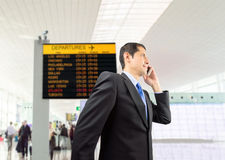 Businessman walking at the airport Royalty Free Stock Photography