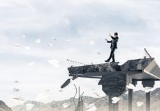 Concept of hidden risks and dangers. Stock Image