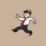 Businessman walking stock illustration