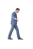 Businessman walking in equilibrium Stock Image