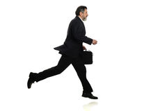 Businessman Walking in a hurry Stock Images