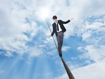 Free Businessman Walking On Rope Royalty Free Stock Photography - 22268897