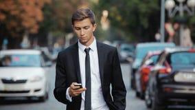 Businessman Walking on The Street stock footage