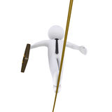 Businessman is walking on a tightrope Stock Image