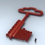 Businessman walking to Cloud computing diagram Stock Photo