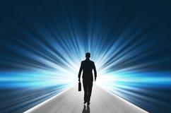 Businessman walking toward Stock Photography