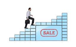 Businessman walking up Royalty Free Stock Images