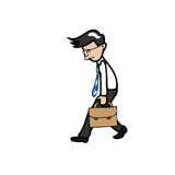Businessman walks slowly and tried Royalty Free Stock Photography