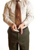 Businessman and wallet royalty free stock images
