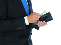 Businessman with Wallet Stock Photography