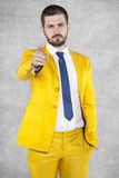 Businessman wants you Royalty Free Stock Photo