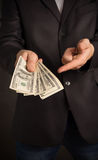 Businessman wants so you took the money Royalty Free Stock Image
