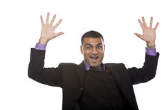 Businessman was successful Stock Images