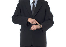 Businessman with watch Royalty Free Stock Image
