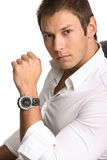 Businessman with watch Royalty Free Stock Photo