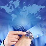 Businessman and watch Stock Photo
