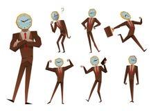 Businessman watch head vector illustration Stock Image