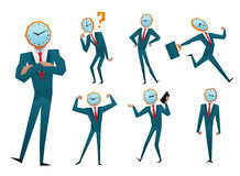 Businessman watch head vector illustration Stock Photo
