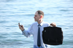 Businessman in a water Stock Photos