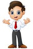 Businessman waving both hands Stock Photos