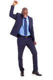 Businessman waving fist Royalty Free Stock Photos