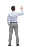 Businessman waving hand Stock Photos