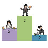 Businessman way to success vector illustration