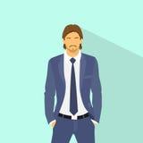 Businessman wear elegant fashion suit hold hands Stock Image