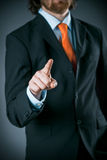 Businessman Wearing Black Suit Pointing at Camera Royalty Free Stock Photography