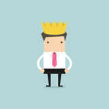Businessman wearing a crown Royalty Free Stock Image