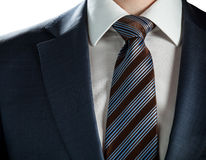 Businessman wearing formal suit and tie Stock Photos