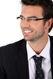 Businessman wearing glasses Royalty Free Stock Photos