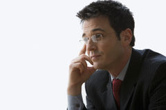 Businessman Wearing Glasses - Isolated Stock Photography
