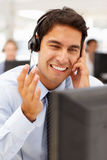 Businessman wearing headset Royalty Free Stock Images