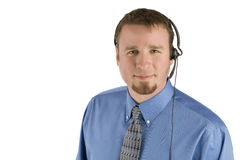 Businessman wearing headset. Call center executive with headset stock images