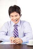 Businessman Wearing a Headset Stock Photography