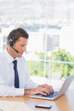 Businessman wearing a headset Royalty Free Stock Images