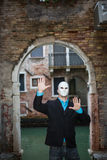 Businessman wearing mask Royalty Free Stock Photo