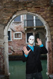 Businessman wearing mask Stock Photos