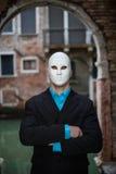 Businessman wearing mask Stock Image