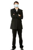 Businessman wearing protective mask Royalty Free Stock Photos