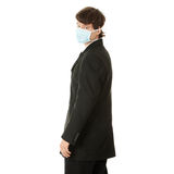 Businessman wearing protective mask Stock Photo