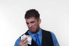 Businessman wearing a shirt and waist coat Stock Photos