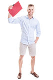 Businessman wearing shorts Stock Photos