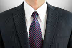 Businessman wearing suit and tie Stock Image