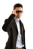 businessman wearing sunglasses Stock Photos